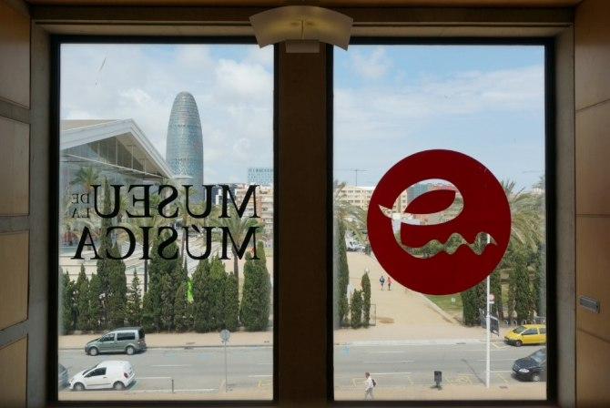 Utsikt från Barcelonas musikmuseum