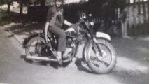 jag och motorcykeln Kalmar 1949
