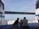 Passerar Öresundsbron, häftigt att sitta ute då...