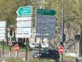 Många skyltar i Frankrike