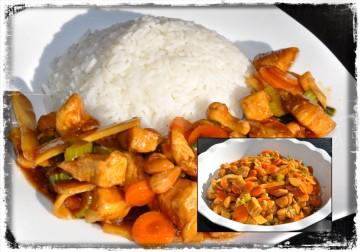 Thai Kyckling med Selleri, Vitlök, Ingefära & Cashewnötter