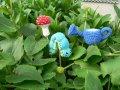 Små prydnader för trädgården
