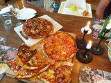Detta blev kvar när vi ätit färdigt, goaste pizzorna mmm
