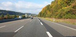 Autobahn, bilden ljuger det var fullt längre fram