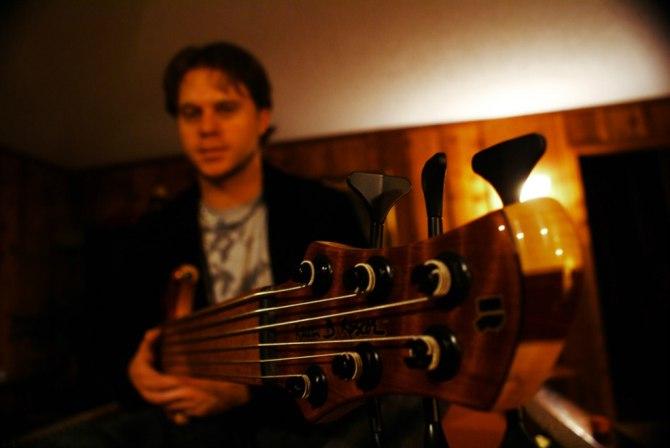 Kent Beatty behind his bass