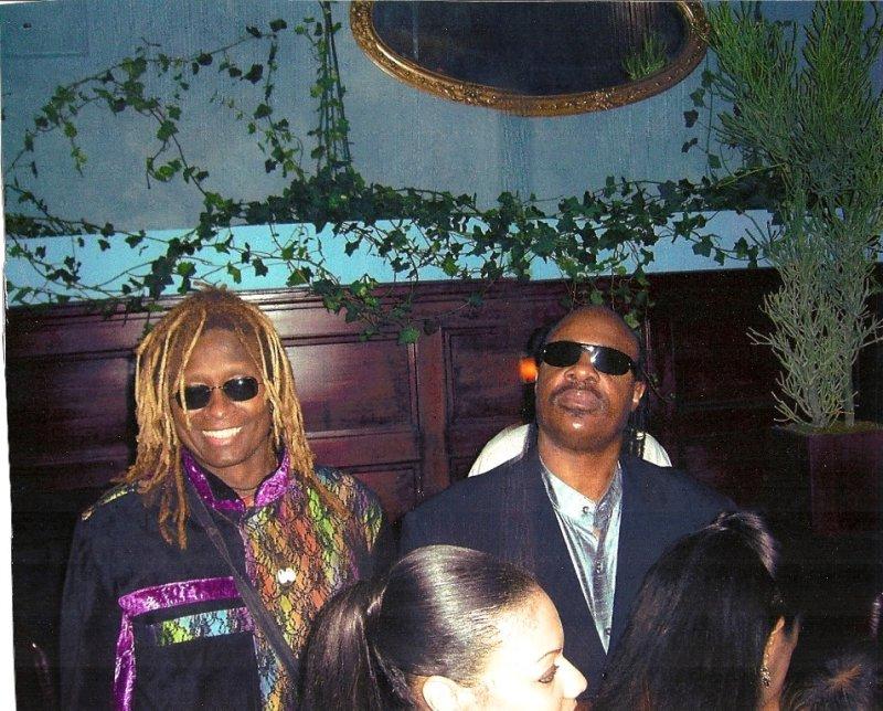 T.M. Stevens and Stevie Wonder