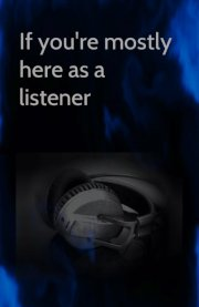Image for mostly here as a listener, on Musicians' Corner