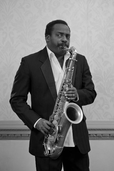 David Murray with his saxophone