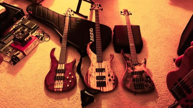 Basses belonging to Kent Beatty