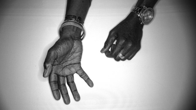 Ronny Drayton's hands