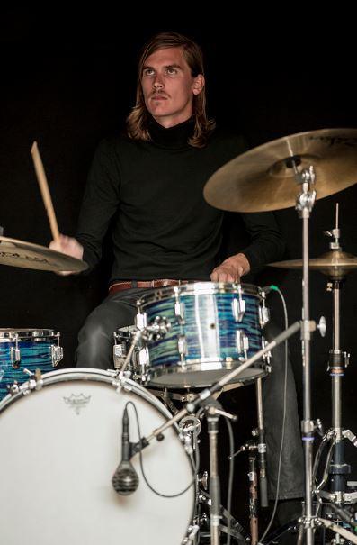 Jonas Waaben playing drums
