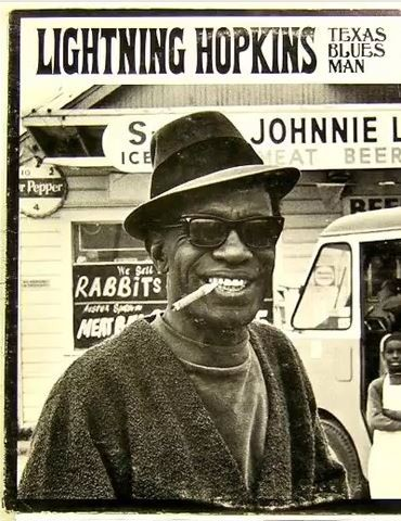 Lightnin Hopkins album cover, fragment
